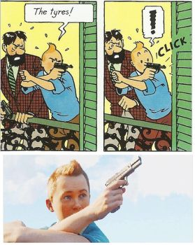 Tintin's Shooting Method by RedScarfLuxio
