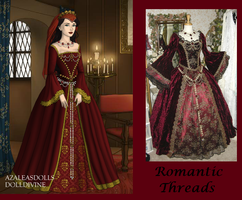 Romantic Threads Dark Red by msbrit90