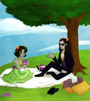 Nepeta Picnic by LargM