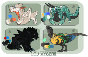 Monster Design Auction - CLOSED by Vholkrum
