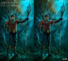Jason Momoa as Aquaman Concept Art/ Costume Design by JamesBousema