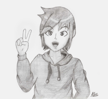 Hand Drawing - Peace by SuperAj3