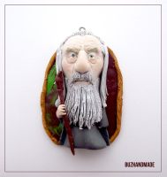 Gandalf the Gray - Lord of the rings - CLAY CHARM by buzhandmade