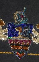 Nan's Beaded Crest Detail #3 by badgersoph