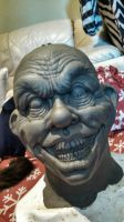 Creepy Clown Sculpture WIP by asconch