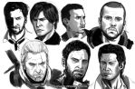Game character sketches by SaraKpn