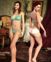 Sensuality 3... Aicka and Lara by Pitoxlon
