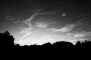 Black and White Sky by daenuprobst