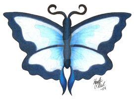 Blue Butterfly by stormwhisper02