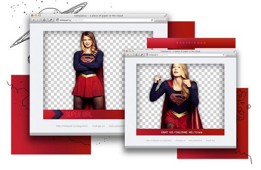 Pack Png 907 // Super Girl by ExoticPngs