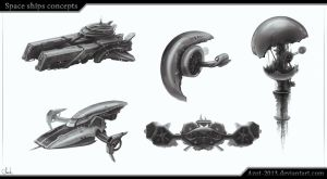 Space Ships concepts by Azot2015