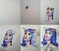 katy perry- wip drawing by akshay-nair