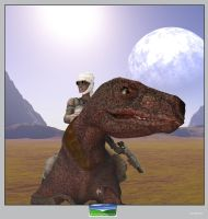 Dino Rider by FarawayPictures