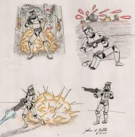 Clone Battle situations by Tribble-Industries