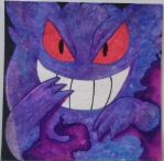 Gengar on Felt by pokemonviolet