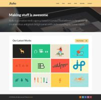 Rufio Free Homepage PSD by elemis