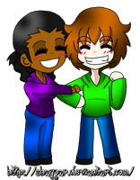 Chibi Me and Peter Test by ShayGar