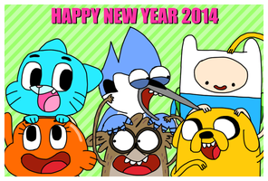 HAPPY NEW YEAR 2014 -CN ver- by OysteIce