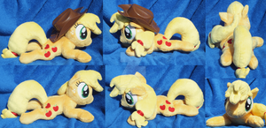 Laying AppleJack Plush by kiashone