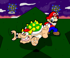 Bowser in the sky by FANG-FOREVER