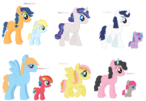 MLP Mane 6 Hetro Shipping Adopts [OPEN] by YummyCupcake436