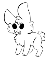 Free Bunny Lineart by VelociraptorCupcake