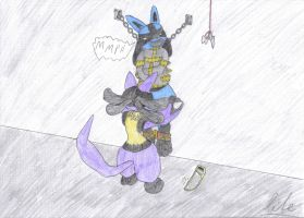 Lucario Hardcore Bondage by Shadowxite