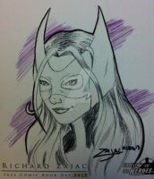 Huntress Sketch by RichardZajac