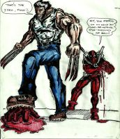 wolverine and deadpool by lijohn321