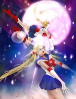 Sailor Moon-Falling Stars. by UnseelieAllure