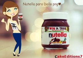Nutella para dolls  png by CakeEditions7