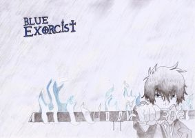 Blue Exorcist - Rin Drawing by ghero97