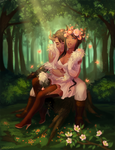 C: Forest Love by looceyloo