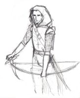Concept Sketch - Templar Hunter, Galfred by wunleebuxton