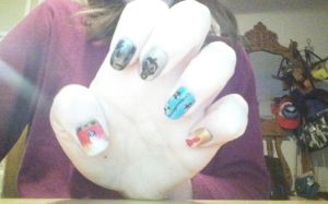 Doctor Who nail art by mroses6