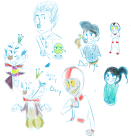 wreck it ralph doodles by Cup-o-Hannibal