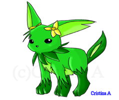 Grass type Eevee thing... by chibijou