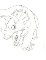 Triceratops by guoki