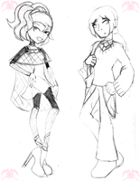 MH: 2 WIP OCs by KPenDragon
