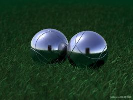 Boccia in the grass by hellstormde
