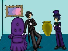 Sebastian and Ciel WP by somechick73