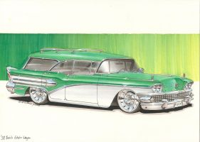 '58 Buick Estate Wagon by DominikScherrer