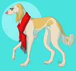Me as a Saluki by Journye