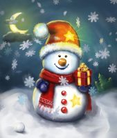 Positive Snowman by ionic-ink