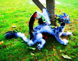 Leopard Dragon Posable Doll- 5 feet by MaryBunnie