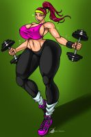 Commission: Sexy Workout by Osmar-Shotgun