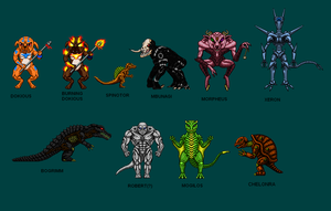 Kaiju Combat Monsters by CosbyDaf