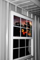 sunset in the window by starlitefairy24