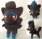 Zorua needlefelt by Wool-Alchemist