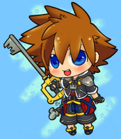 teeny tiny keyblade master by SisterBelldandy